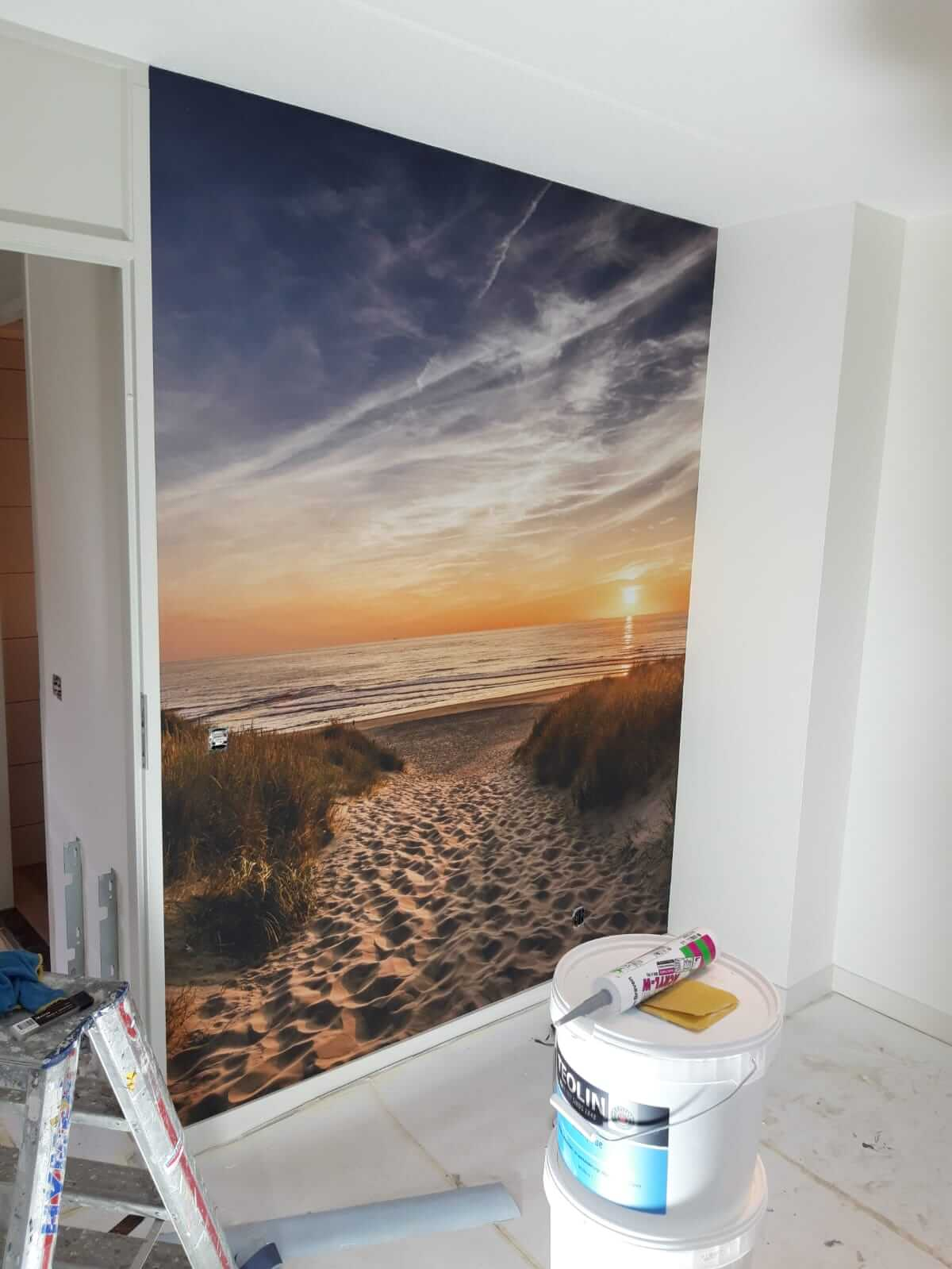 Fotobehang - wandafwerking - Schildersbedrijf Leeuw & Bouwhuis