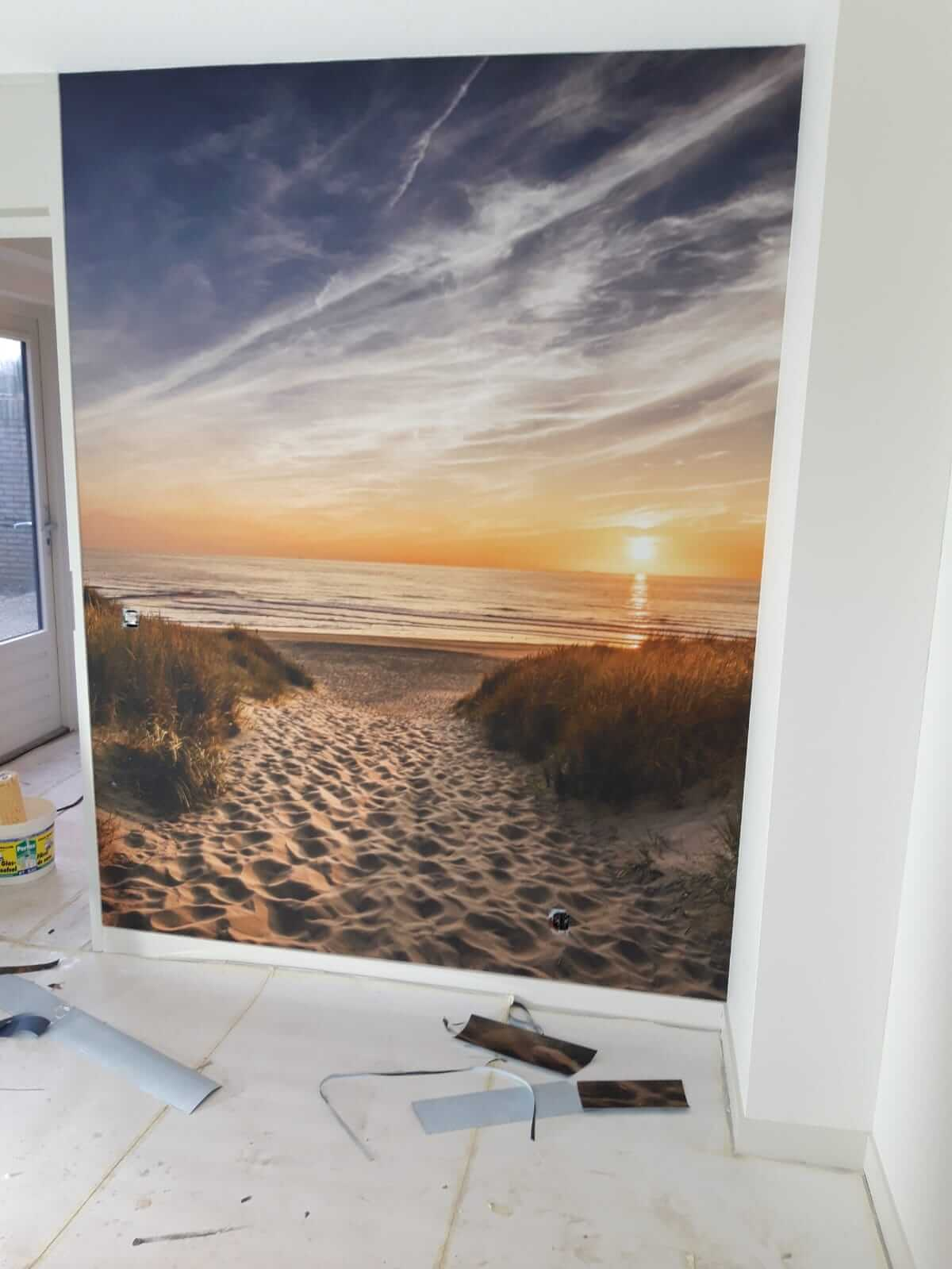 Fotobehang - wandafwerking - Schildersbedrijf Leeuw & Bouwhuis 2